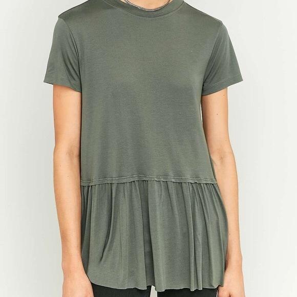 176881563f2b Urban Outfitters Tops | Womens Olive Green Peplum Top | Poshmark